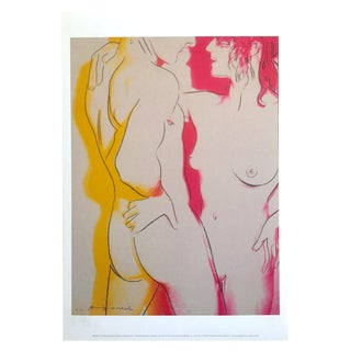 "Andy Warhol Foundation Rare Offset Lithograph Print Pop Art Poster "" Love "" 1983 For Sale"