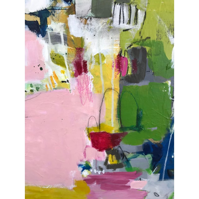 "Gina Cochran ""Let's Play Pretend"" Large Original Abstract Painting For Sale - Image 10 of 12"