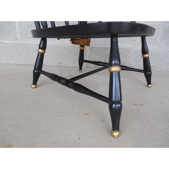 Rousseau Bros. Barrel Back Spindle Black Painted Club Chairs-A Pair For Sale In Philadelphia - Image 6 of 11