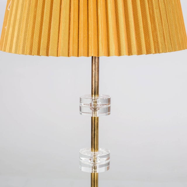 Pair of floor lamps designed by Carl Fagerlund for Orrefors, Sweden, circa 1970. Model RD 1990. Existing wiring, rewiring...