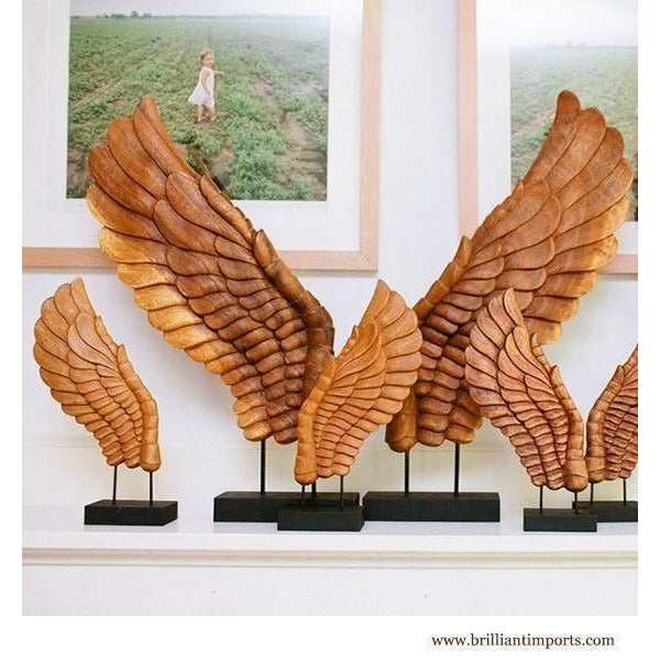 Wooden Décor Wings I, Pair - Image 3 of 4