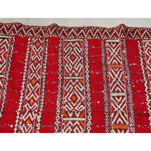 Moroccan Tribal Wedding Rug With Sequins North Africa For Sale In Los Angeles - Image 6 of 9