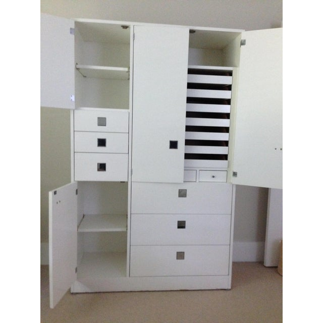 White Lacquer Armoire by Directional - Image 4 of 4