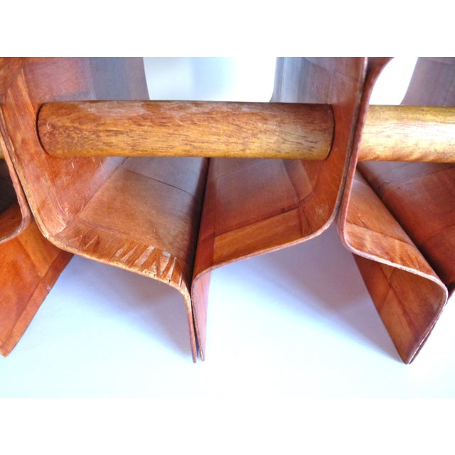 Torsten Johansson Bentwood Honeycomb Wine Rack - Image 8 of 8