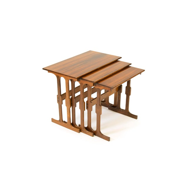 Cfc Silkeborg Rosewood Nesting Tables From Denmark - Set of 3 For Sale - Image 10 of 10