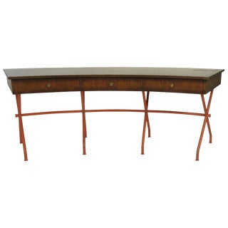 1960s Curved Writing Desk For Sale