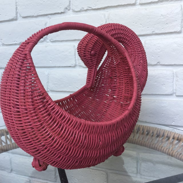 Red Swan Basket For Sale - Image 4 of 11