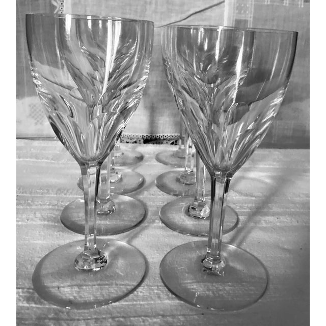 Contemporary 1980s Baccarat Genova Cut Tall Water Glasses, France - Set of 8 For Sale - Image 3 of 10