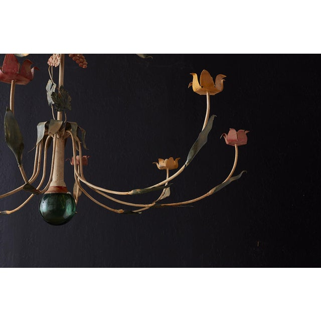 Rustic French Iron Twelve-Light Candle Chandelier For Sale - Image 9 of 13