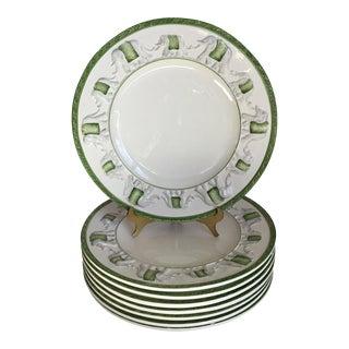 Vintage Italian Elephant Dinner Plates - Set of 8