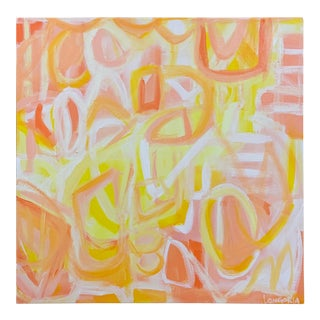 """""""Pass the Limoncello"""" Abstract Painting by Christina Longoria For Sale"""