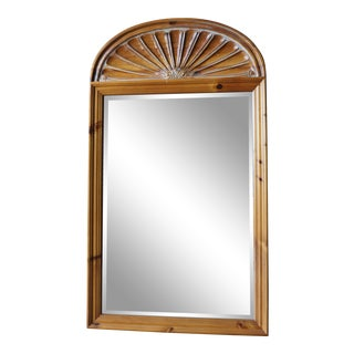 French Country Pine Wall Mirror For Sale