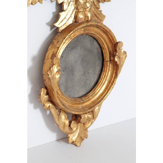 Early 19th Century Pair of Giltwood Mirrors With Eagles, Wings Outstretched For Sale - Image 5 of 13