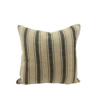 Boho Chic Wrinkle Organic Linen Handmade Throw Pillow For Sale