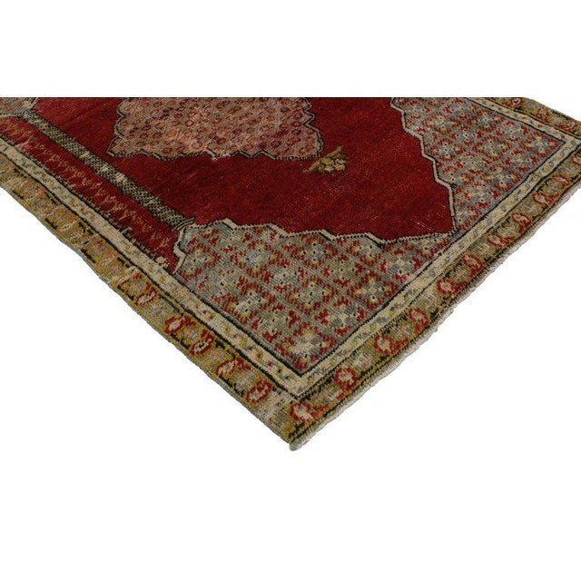Traditional 1940s Vintage Jacobean Style Turkish Oushak Accent Rug - 2′8″ × 4′1″ For Sale - Image 3 of 4