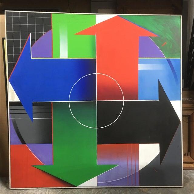 Blanchard Large Modernist Painting - Image 2 of 7