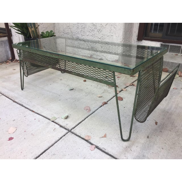 Unique Iron & Glass Mid-Century Modern Outdoor Indoor Patio Coffee Table For Sale - Image 12 of 12