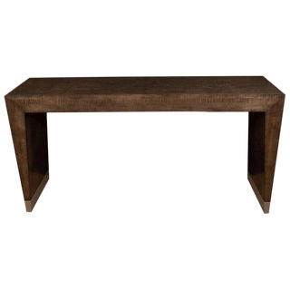 Maple Console With Metal Bottom