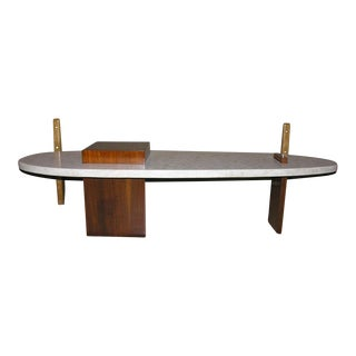 Surfboard Form Terrazo Cocktail Table after Harvey Probber For Sale