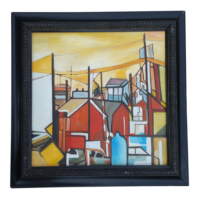 Factory Chimney Oil Painting - Image 1 of 4