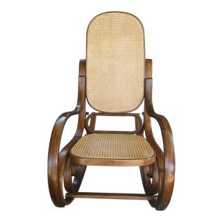 Vintage Thonet-Style Bentwood Rocker For Sale