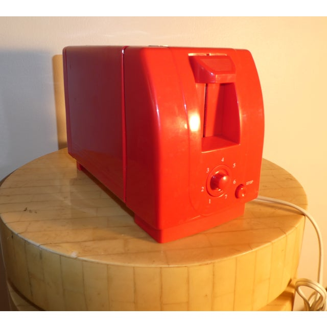 Contemporary Mid-Century Red Toaster For Sale - Image 3 of 3