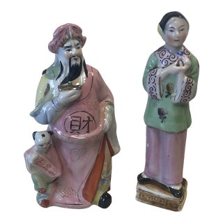 Ceramic Chinoiserie Sculptures For Sale