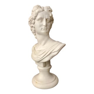 Vintage Hollywood Regency Bust of Apollo For Sale
