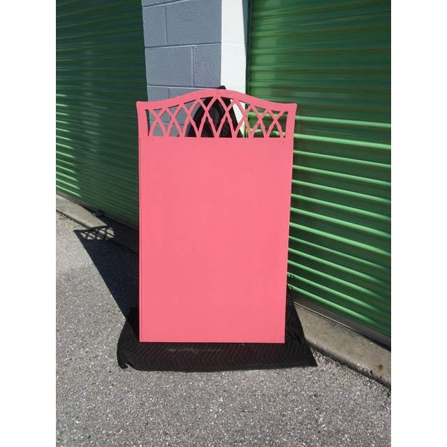 Palm Beach Flamingo Pink Faux Bamboo Wall Mirror For Sale In Tampa - Image 6 of 11