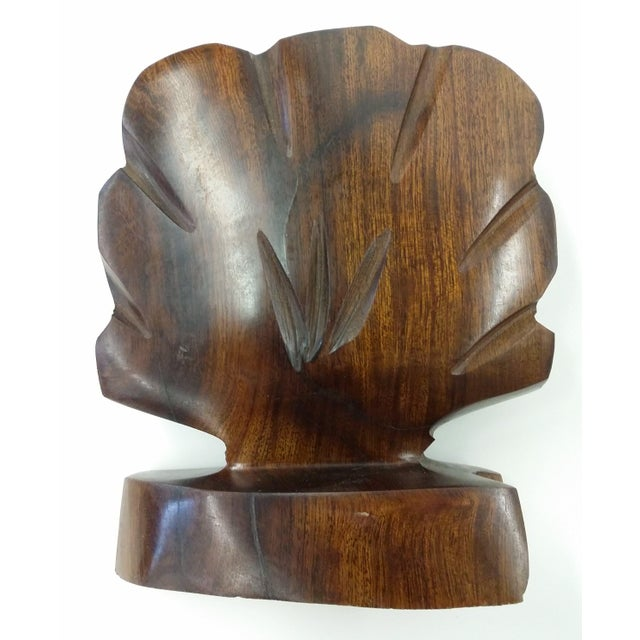 Heavy Ironwood Napkin or Letter Holder For Sale - Image 5 of 10