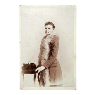 1880s Victorian Cabinet Card Portrait Photo For Sale