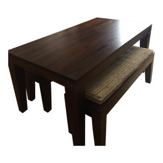 West Elm Carroll Farm Kitchen Table & Benches