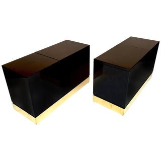 Pair of Lacquered Side Tables Trunk by Jean Claude Mahey, France, 1970s For Sale