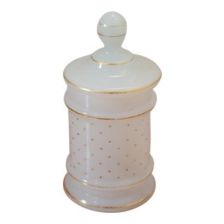 Vintage Apothecary Glass Jar For Sale