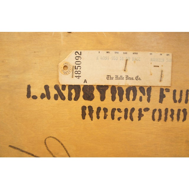 Brown 1950s Landstrom Chinoiserie Dresser For Sale - Image 8 of 8