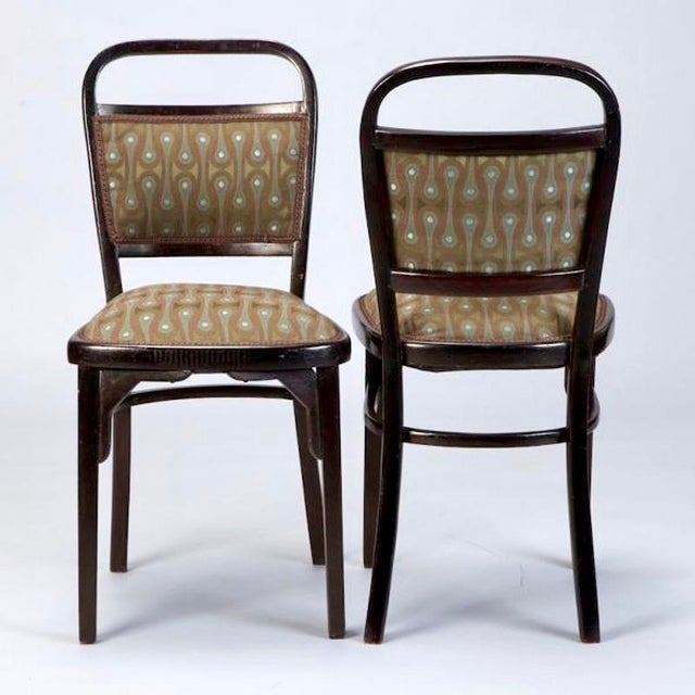 Set of 4 Otto Wagner Secessionist Walnut Dining Chairs - Image 4 of 10