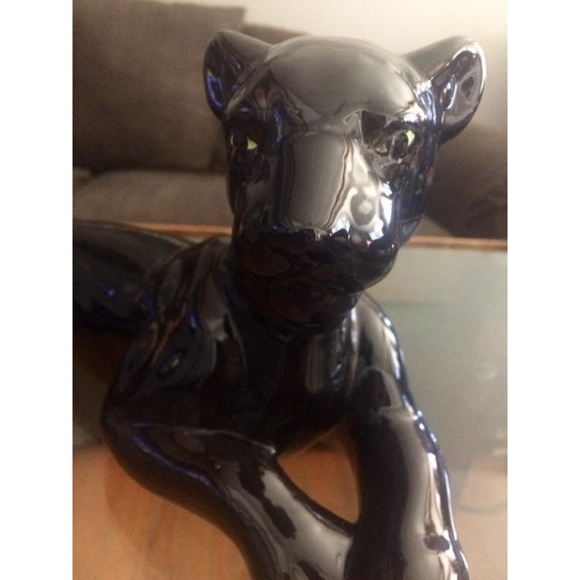 Art Deco Black Jaguar Figure - Image 6 of 7