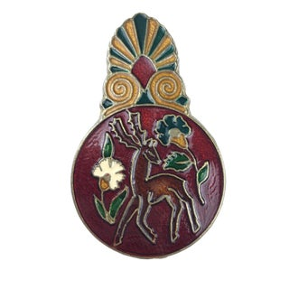 Vintage Cloisonne Christmas Paper Clip from Greece For Sale