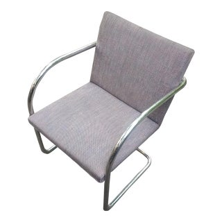 1980s Contemporary Brueton Signed Dining Chair For Sale