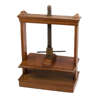 Oversized 19th Century Antique Mahogany and Oak Book Press For Sale