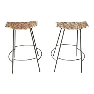 Arthur Umanoff Counter Stools- A Pair For Sale