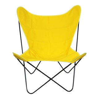 Mid-Century Modern Knoll Style Iron Butterfly Chair For Sale