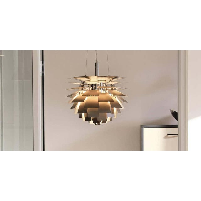 Louis Poulsen Poul Henningsen White PH Artichoke Chandelier for Louis Poulsen For Sale - Image 4 of 6