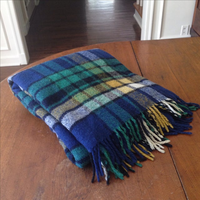 Plaid Wool Tailgate/Picnic Blanket - Image 2 of 11