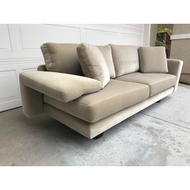 Contemporary Mauro Lipparini for Saporiti Italia Mohair Sofa For Sale - Image 3 of 10