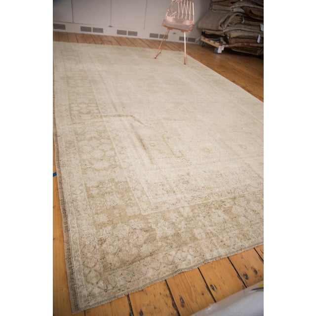 "Islamic Vintage Oushak Carpet - 7'3"" x 12'2"" For Sale - Image 3 of 7"
