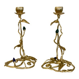"""Michael Aram """"Enchanted Garden"""" Candle Holders - a Pair For Sale"""