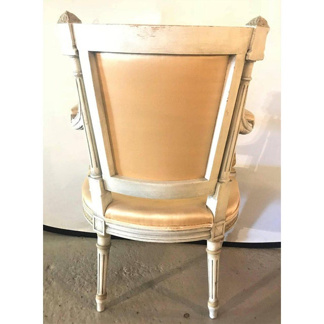 Jansen Parcel Paint and Gilt Decorated Arm or Desk Chair For Sale - Image 11 of 13
