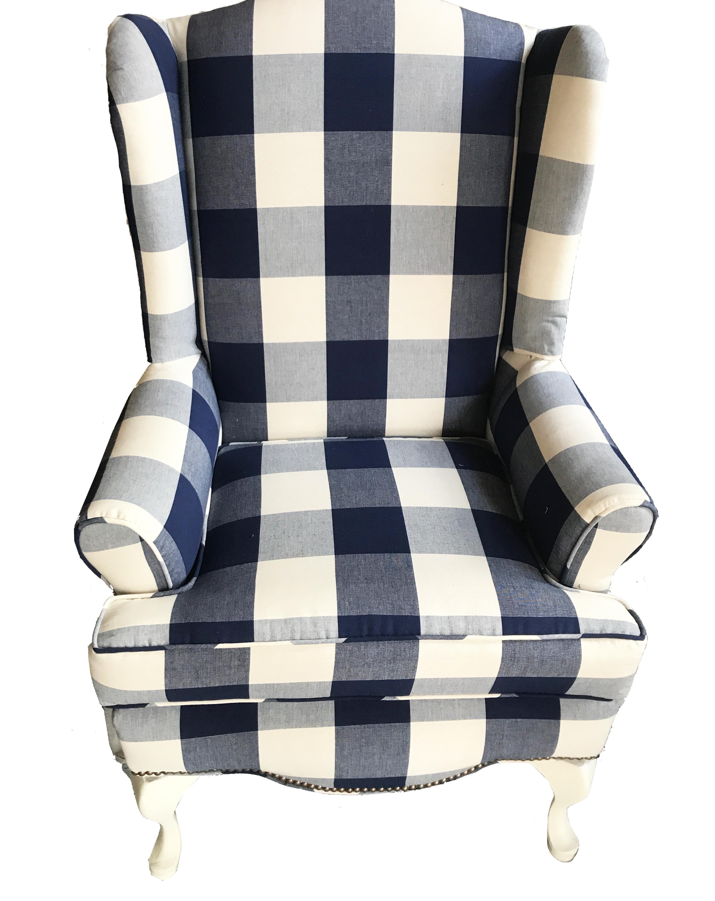 Buffalo Check Wingback Chair   Image 6 Of 6