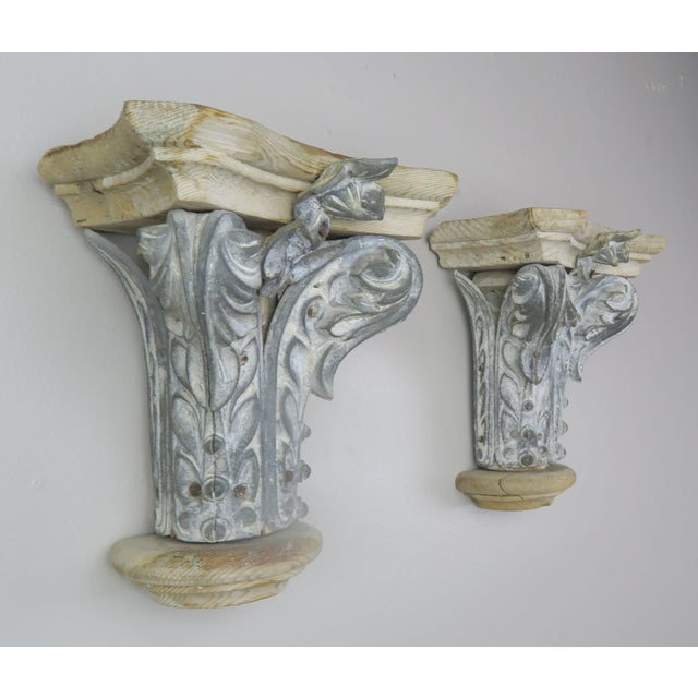 Pair of French Painted Corbels, Circa 1940s For Sale - Image 9 of 13